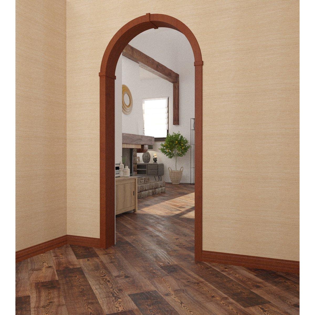 Оформление дверного проёма аркой из мдф
