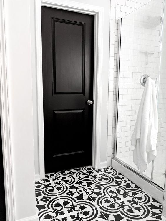 Двери межкомнатные двери в чёрном цвете купить