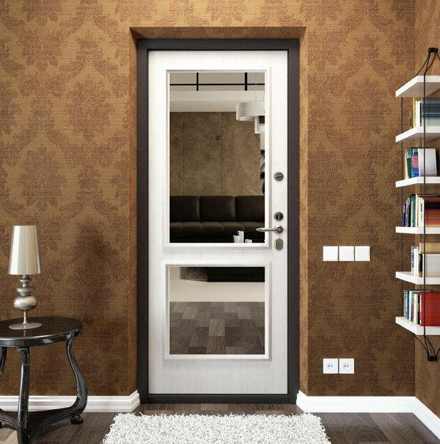 Межкомнатные двери с зеркалом купить в Казани