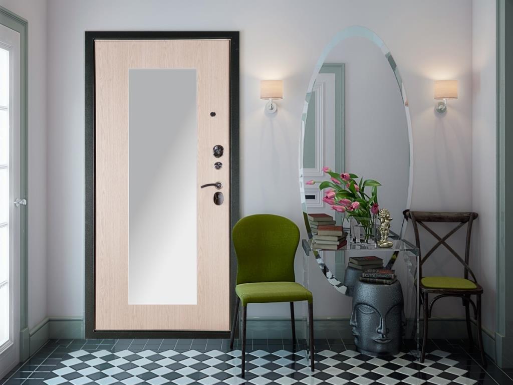 Заказать металлические двери с зеркалом в Чебоксарах